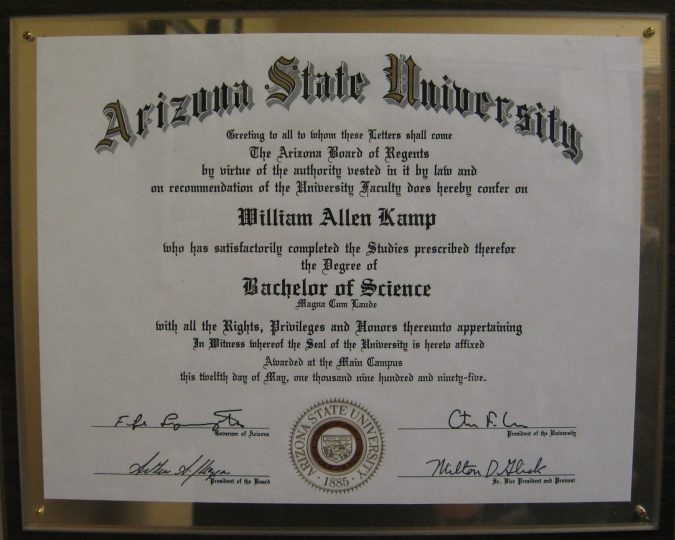 ASU-diploma-675x540 6 Best Online Colleges in the USA