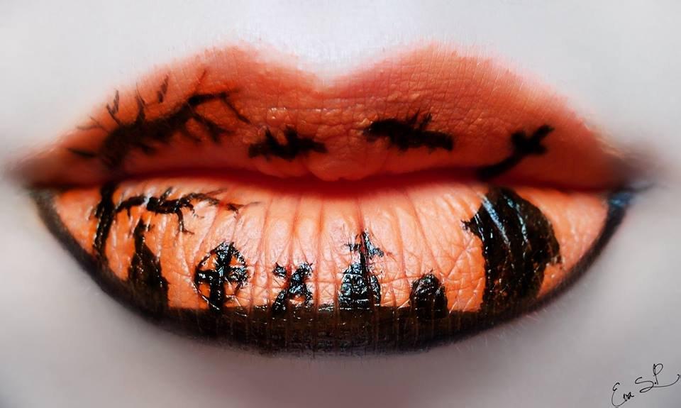 Graveyard-Shift 16 Creative Lip Makeup Art Trends in 2018