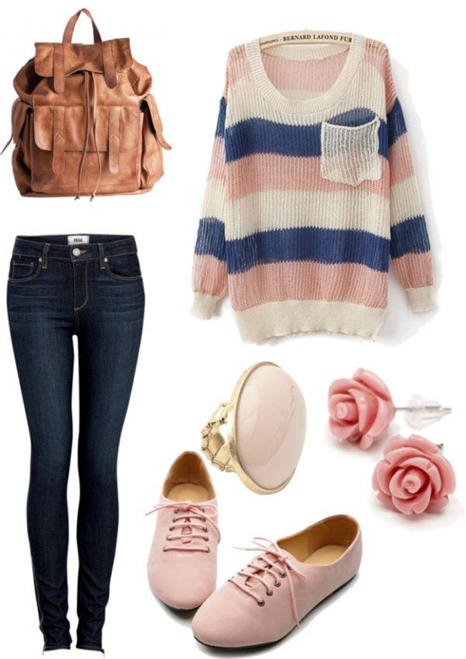 Trovato-su-women-outfits.com_-675x954 10 Stylish Spring Outfit Ideas for School