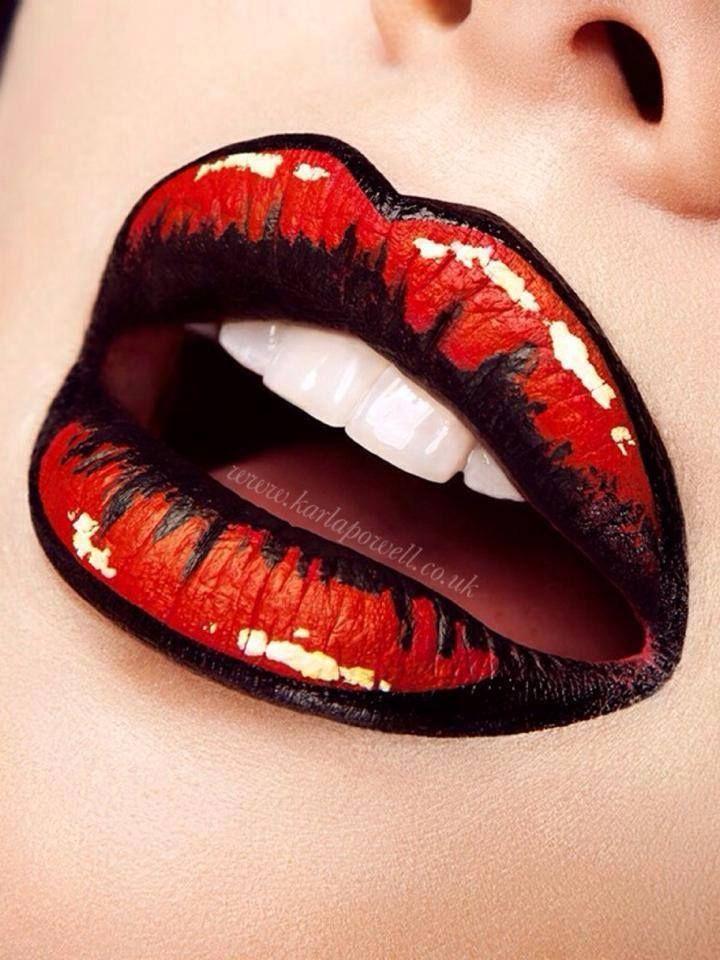 a4dacee97a05358d49861d9654cdfa1a 16 Creative Lip Makeup Art Trends in 2018