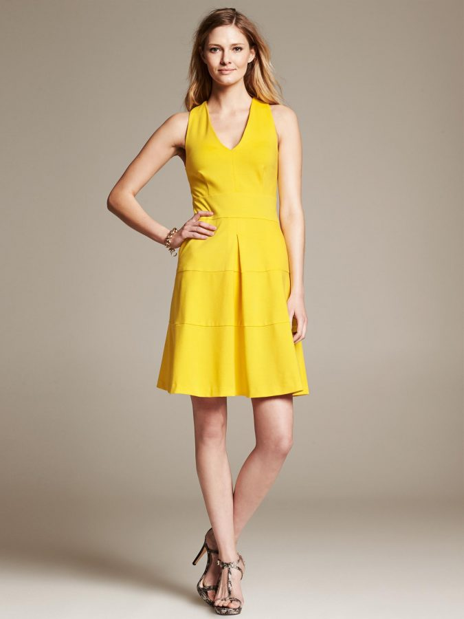 banana-republic-ponte-cross-back-fit-and-flare-dress-tuscan-sun-product-1-18657647-1-720826485-normal-675x900 10 Stylish Spring Outfit Ideas for School