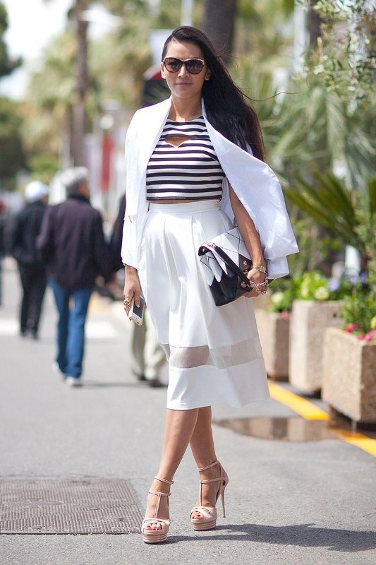celebrities-in-striped-outfits-5 77+ Elegant Striped Outfit Ideas and Ways to Wear Stripes in 2018