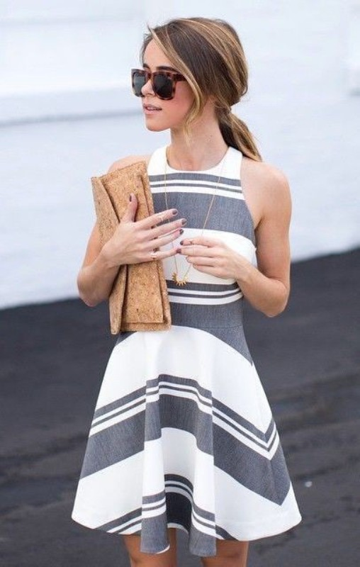 chevron-stripes-1 77+ Elegant Striped Outfit Ideas and Ways to Wear Stripes in 2018