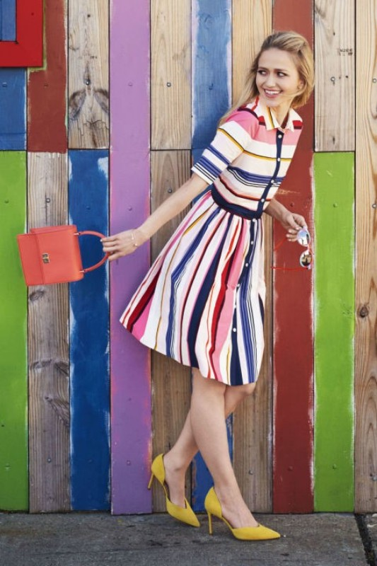 colorful-stripes-16 77+ Elegant Striped Outfit Ideas and Ways to Wear Stripes in 2018