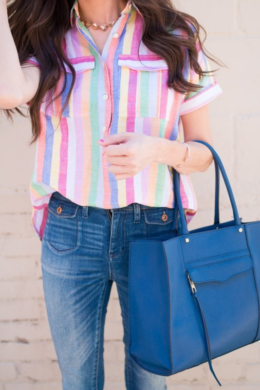 colorful-stripes-18 77+ Elegant Striped Outfit Ideas and Ways to Wear Stripes in 2018