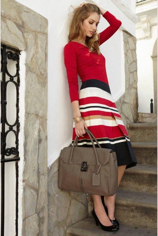 colorful-stripes-20 77+ Elegant Striped Outfit Ideas and Ways to Wear Stripes in 2017