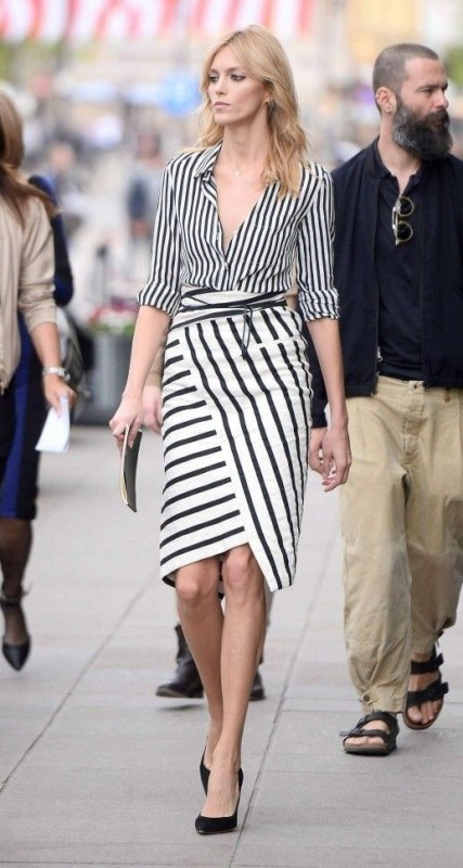 completely-striped-outfits-1 77+ Elegant Striped Outfit Ideas and Ways to Wear Stripes
