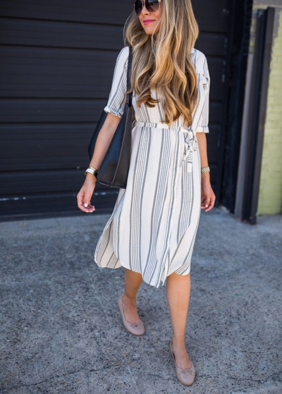completely-striped-outfits-18 77+ Elegant Striped Outfit Ideas and Ways to Wear Stripes in 2018