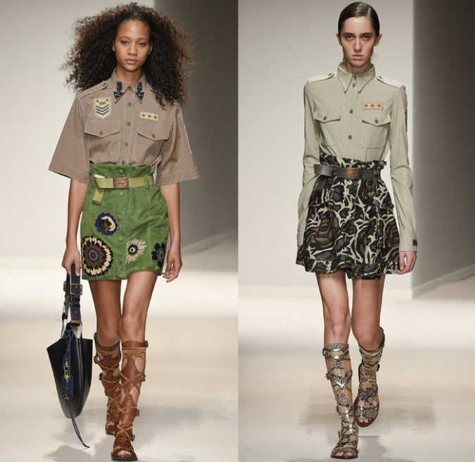 fay-2017-spring-summer-womens-milan-fashion-moda-military-shirtdress-gladiator-medallion-sequins-qipao-denim-jeans-observer-12x-675x656 Top 35 Stellar European Fashions for Spring 2017