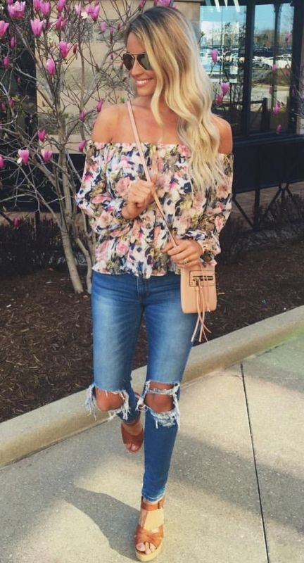 floral-outfits-161 84+ Breathtaking Floral Outfit Ideas for All Seasons 2018