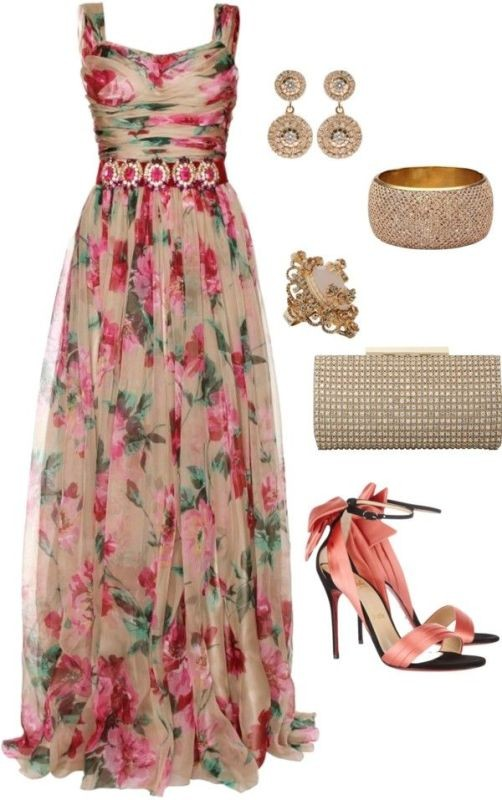 floral-outfits-17 84+ Breathtaking Floral Outfit Ideas for All Seasons 2018