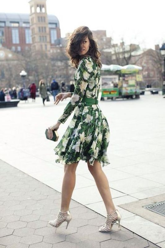 floral-outfits-176 84+ Breathtaking Floral Outfit Ideas for All Seasons 2018