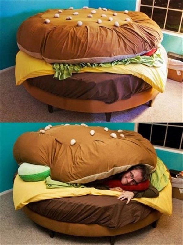 hamburger-bed 12 Unusual Beds That are Innovative
