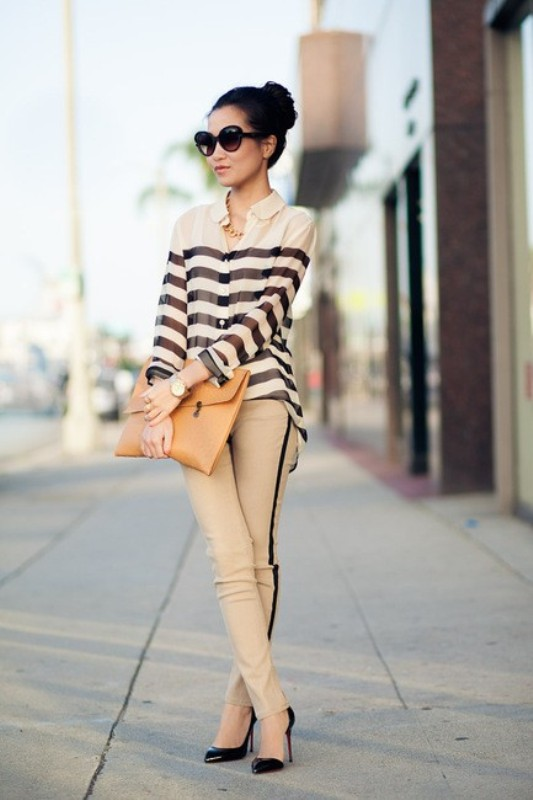 horizontal-stripes-6 77+ Elegant Striped Outfit Ideas and Ways to Wear Stripes