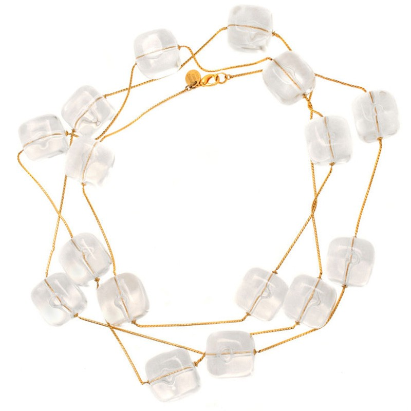 long_anne_klein_couture_ice_cube_necklace1 Top 10 Unusual Necklace Jewelry Trends