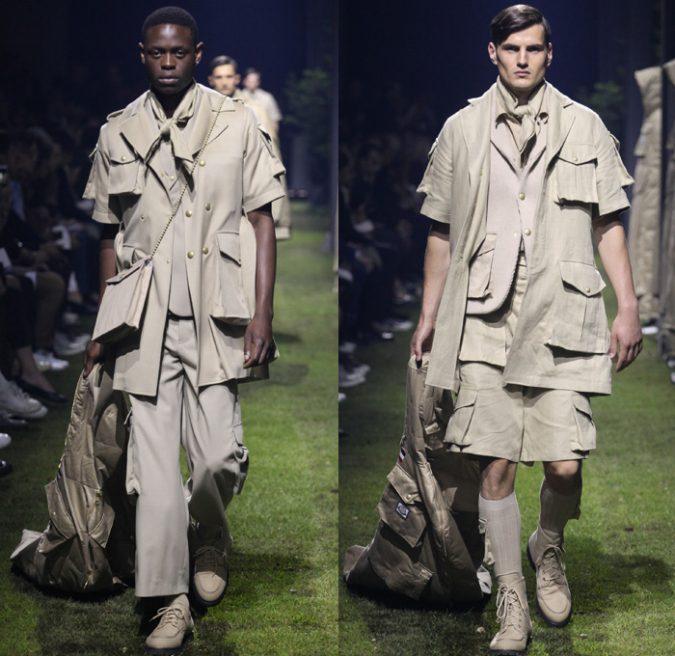 moncler-gamme-bleu-2017-spring-summer-mode-paris-france-mens-camp-picnic-plaid-utility-cargo-pockets-safari-denim-jeans-observer-04x-675x656 35+ Stellar European Fashions for Spring 2017