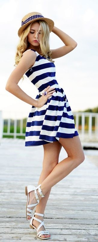 nautical-stripes-1 77+ Elegant Striped Outfit Ideas and Ways to Wear Stripes in 2018