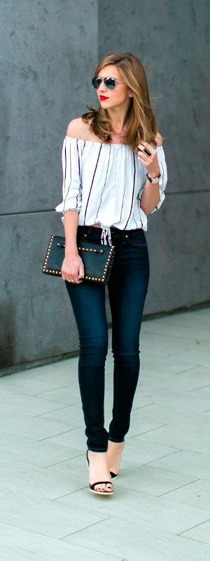 striped-outfits-1 77+ Elegant Striped Outfit Ideas and Ways to Wear Stripes in 2018