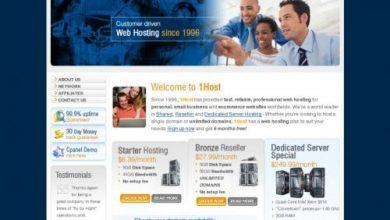 Photo of 1Host.com Hosting Review !