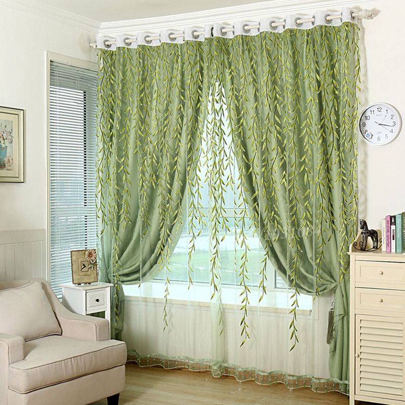 1Pcs-font-b-Green-b-font-font-b-Sheer-b-font-font-b-Curtain-b-font 20+ Hottest Curtain Designs for 2019