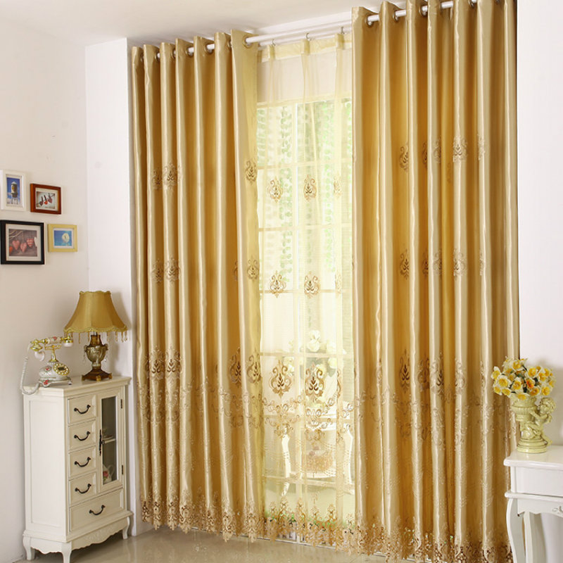 2017-European-style-golden-embroidery-font-b-curtains-b-font-living-room-font-b-bedroom-b 20+ Hottest Curtain Design Ideas for 2020