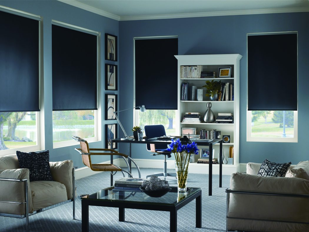 6.-Roller-Shade-black 20+ Hottest Curtain Design Ideas for 2021