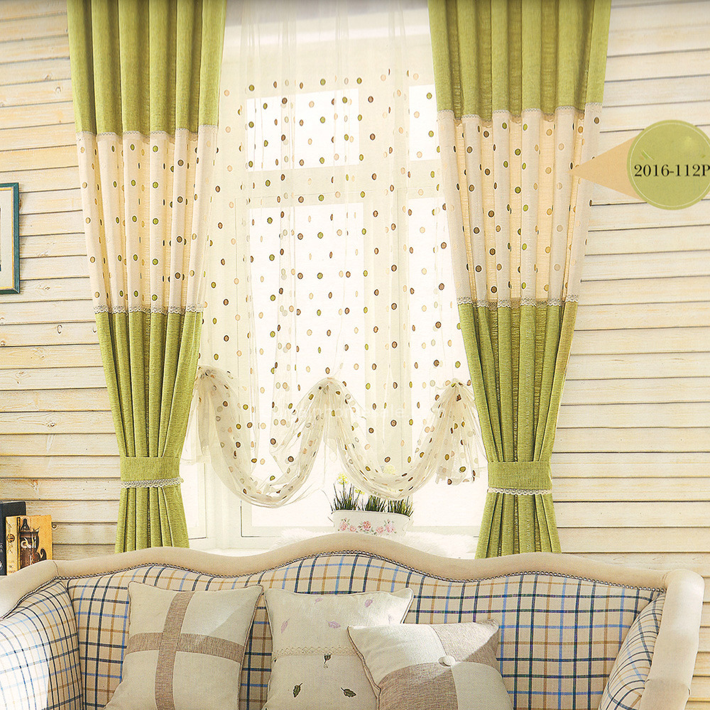 Beige-and-Green-LinenCotton-Fabric-Girls-Room-Curtain-2016-New-Arrival-CHS05161721301-1 20+ Hottest Curtain Design Ideas for 2020