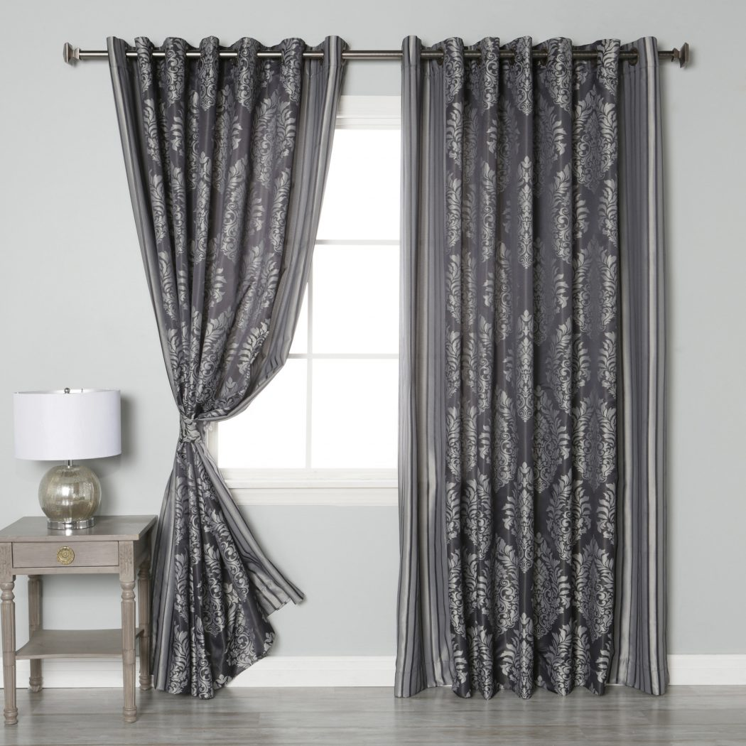 Best-Home-Fashion-Inc.-Wide-Width-Damask-Jacquard-Grommet-Curtain-Panels 20+ Hottest Curtain Designs for 2019
