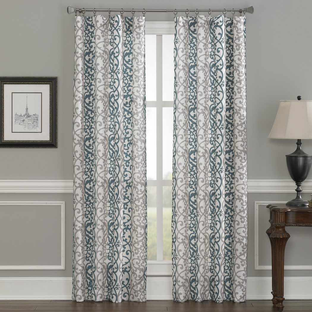 CHF-Damask-Single-Curtain-Panel 20+ Hottest Curtain Designs for 2018