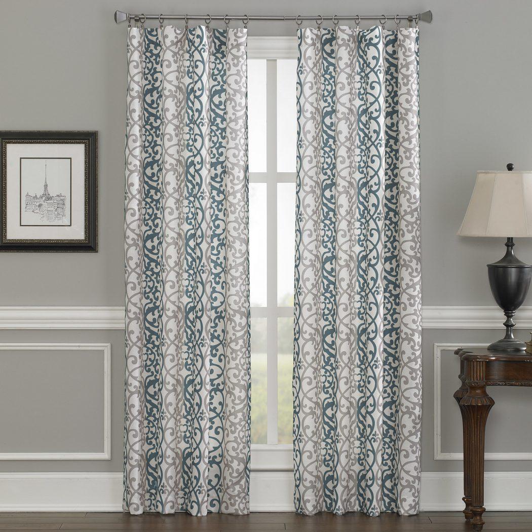 CHF-Damask-Single-Curtain-Panel 20+ Hottest Curtain Design Ideas for 2021
