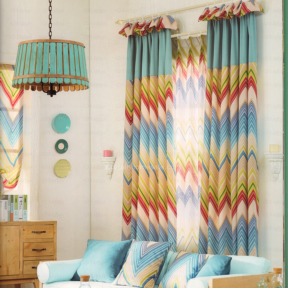 Colorful-Chevron-Curtains-Cotton-and-Linen-Fabric-2016-New-Arrival-CHS05041634039-1 20+ Hottest Curtain Design Ideas for 2021