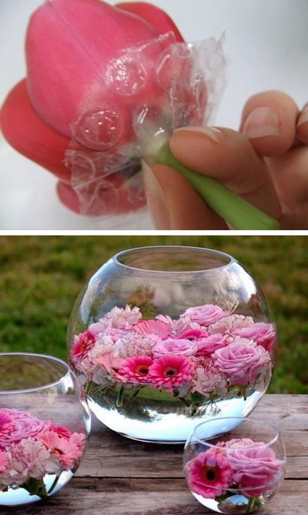 DIY-floating-flowers 8 Creative DIY Decor Ideas for a Fancy-looking home in 2020