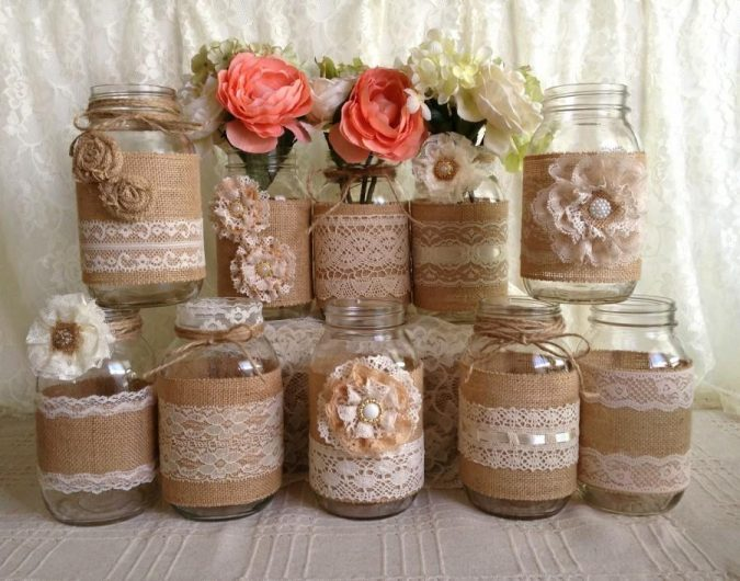 DIY-laced-jars-2-675x530 8 Creative DIY Decor Ideas for a Fancy-looking home in 2017