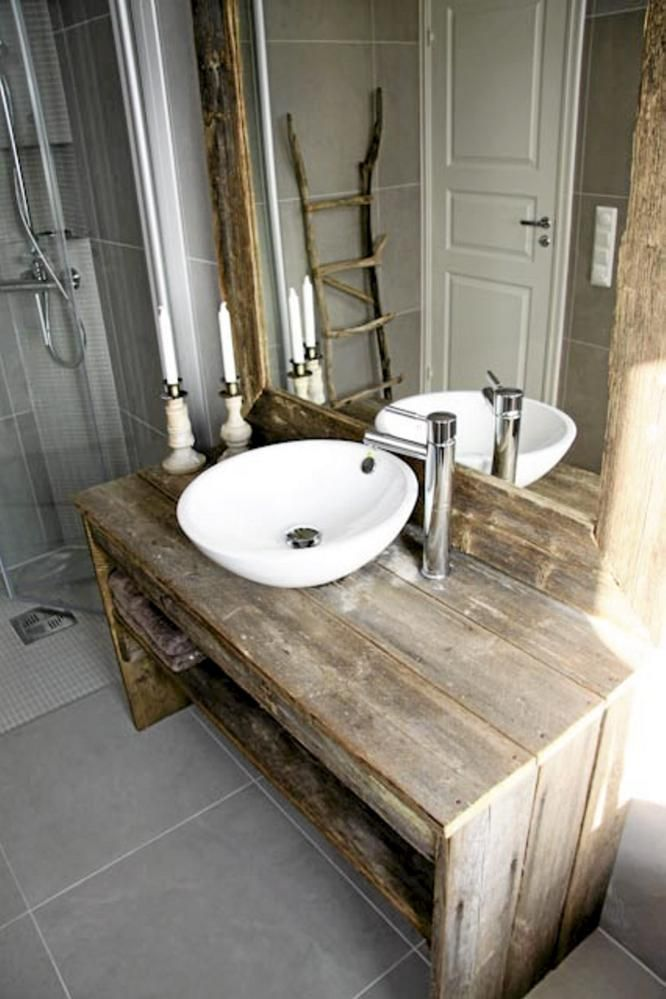 DIY-wooden-vanity 15 Stylish Bedroom & Bathroom Vanities DIY Ideas in 2020