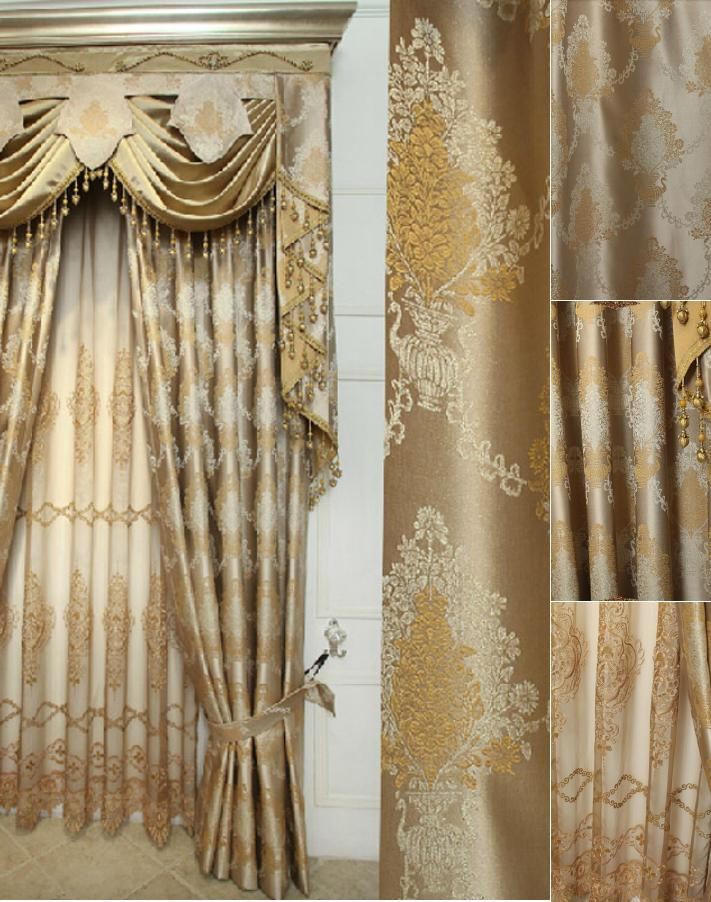 Elegant-Jacquard-Craft-Faux-Silk-Gold-Color-of-Thick-Blackout-Curtain-CMT7602-1-merge 20+ Hottest Curtain Design Ideas for 2020