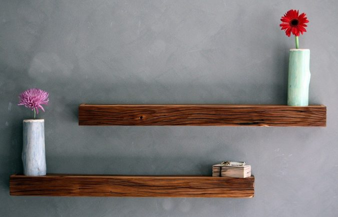 Floating-Shelves-Mantel-675x433 11 Simply Charming Rustic Home Decors & Living Sets