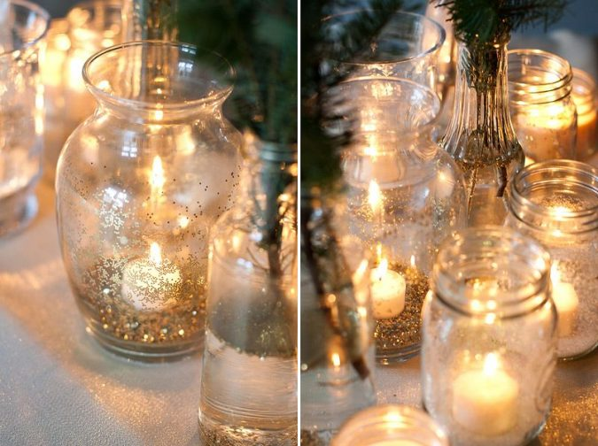Glitter-Glass-Luminaries-675x504 25+ New Year Eve Decoration Ideas for a Blasting Party