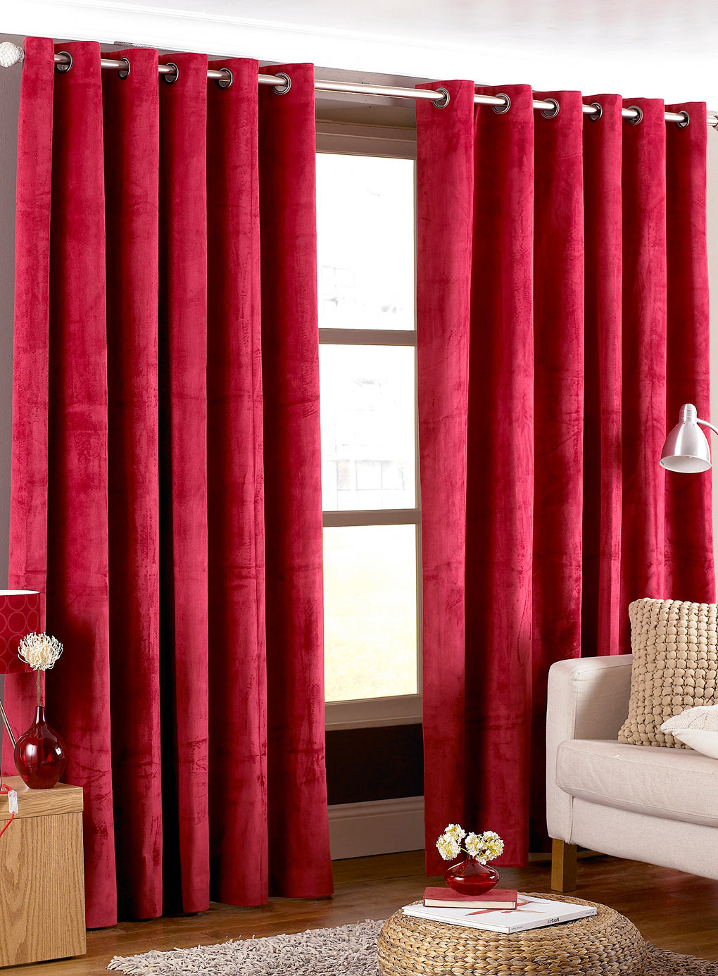 Latest-red-and-gray-striped-curtains 20+ Hottest Curtain Design Ideas for 2021
