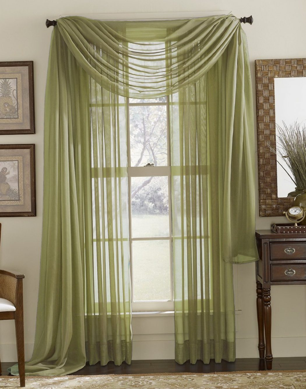 Lovely-Green-Sheer-Curtains-97-In-with-Green-Sheer-Curtains 20+ Hottest Curtain Designs for 2018