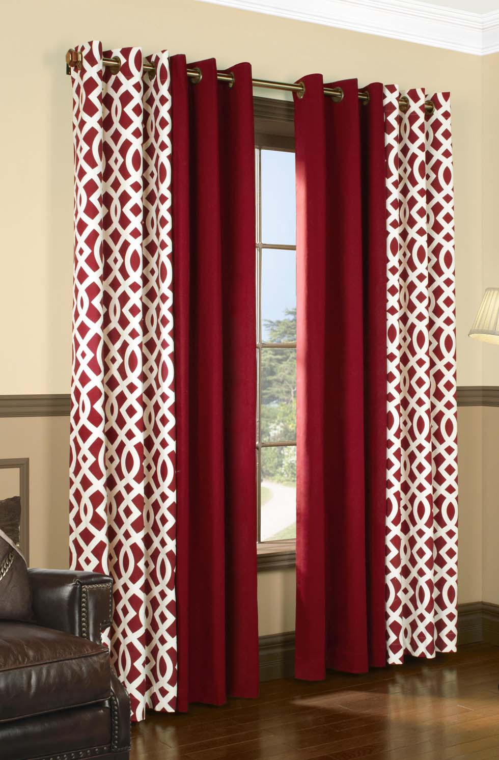 Red-Trellis-and-Weathermate-Thermal-Curtains 20+ Hottest Curtain Design Ideas for 2021