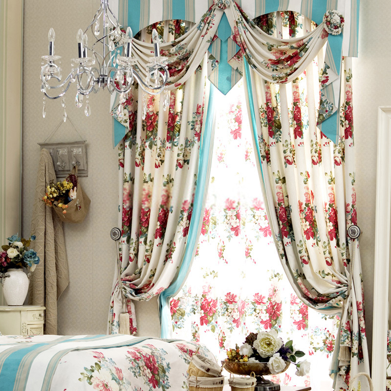 Red-floral-print-curtains-can-bring-an-elegant-life-to-you-Jd1257640173-1 20+ Hottest Curtain Design Ideas for 2020