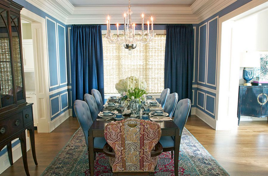 Shades-of-blue-are-perfect-for-darker-curtains 20+ Hottest Curtain Design Ideas for 2021