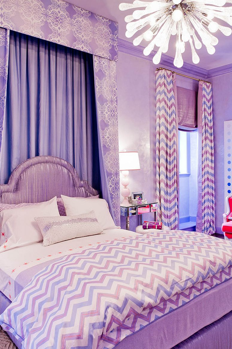 Sophisticated-teen-room-with-loads-of-glam 20+ Hottest Curtain Designs for 2019