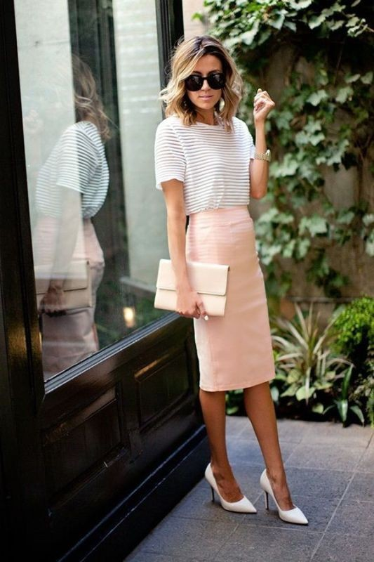 T-shirts-for-work-4-1 87+ Spring and Summer Office Outfit Ideas for Business Ladies 2019