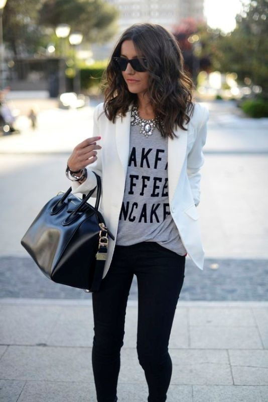 T-shirts-for-work-7-1 87+ Spring and Summer Office Outfit Ideas for Business Ladies 2019