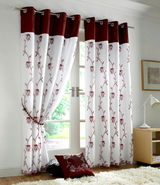 Tahiti-Burgundy 20+ Hottest Curtain Design Ideas for 2021