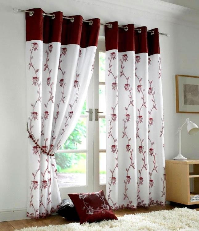 Tahiti-Burgundy 20+ Hottest Curtain Design Ideas for 2020