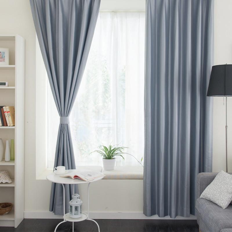 Thermal-Living-Room-or-Balcony-Solid-Color-Gray-Curtains-CTMAKT150115120343-1 20+ Hottest Curtain Design Ideas for 2021