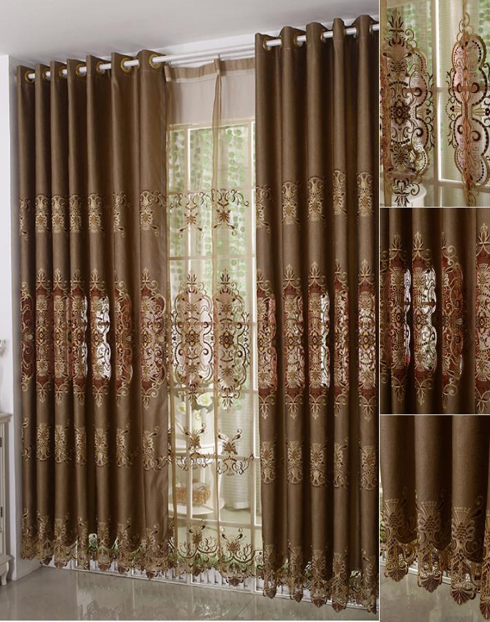 Vintage-Brown-Color-Jacquard-Elegant-Curtains-CMT04271313123-1-merge 20+ Hottest Curtain Designs for 2018