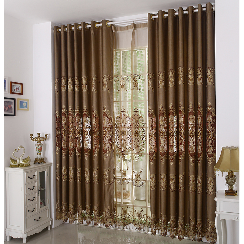Vintage-Brown-Color-Jacquard-Elegant-Curtains-CMT04271313123-1 20+ Hottest Curtain Designs for 2018